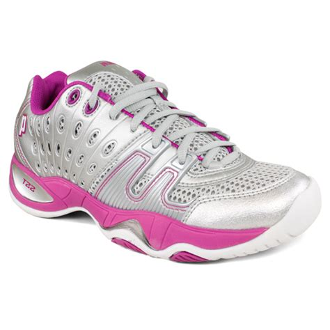 prince s t22 tennis shoes silver berry ebay