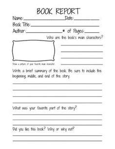 Magic Tree House Book Report Template Book Report Templates For Kinder And Graders