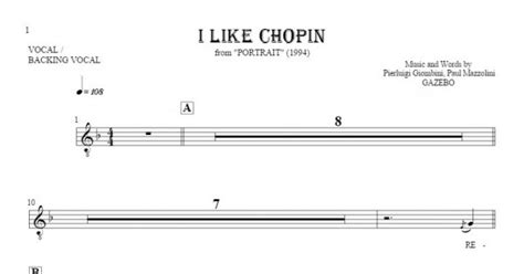 gazebo i like chopin lyrics i like chopin notes and lyrics for vocal playyournotes