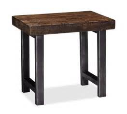Reclaimed Wood Side Table Griffin Reclaimed Wood Side Table Pottery Barn