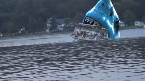 megalodon shark attacks boat megalodon shark attacks boat caught on tape youtube