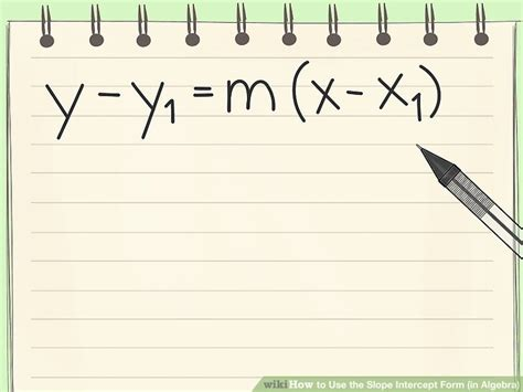 slope intercept form 6 ways to use the slope intercept form in algebra wikihow