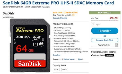 Sandisk Sdhc Pro 64gb Uhs Ii 300mb S Sdsdxpk 064gb sandisk release new fast sd cards 300mb s read speed