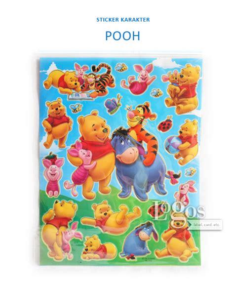 Lemari Plastik Winnie The Pooh jual sticker karakter winnie the pooh stiker hadiah anak gift reward bday logos