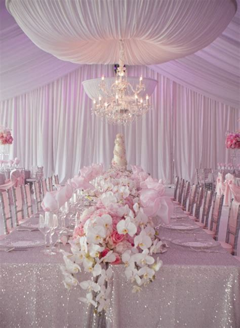 Pale Pink Wedding Decor by Pink Reception Wedding Theme Archives Weddings Romantique