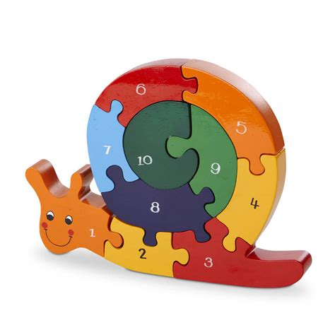 Handmade Puzzle - handmade wooden number snail puzzle by wood like to play