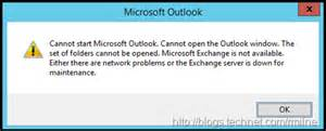 Cannot Start Microsoft Office Outlook Cannot Open The Outlook Window by Office 365 Error Cannot Start Microsoft Outlook