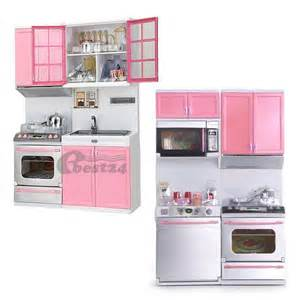 Mini Kitchen Set Mini Kitchen Pretend Play Cook Cooking Set Cabinet Stove Toys Pink