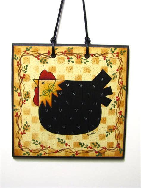 folk art home decor folk art chicken sign handpainted hen home decor wall art