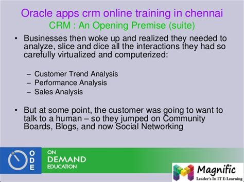 oracle networking tutorial oracle crm administrator training and placements