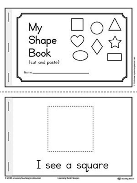 printable shapes booklet basic geometric shapes mini book worksheets triangles