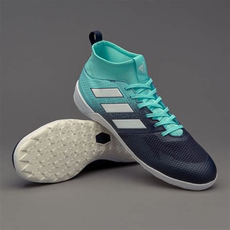 Sepatu Futsal Adidas Ace 173 Primemesh White Blue Turf adidas ace 17 3 in mens boots indoor cg3709 energy aqua white legend ink