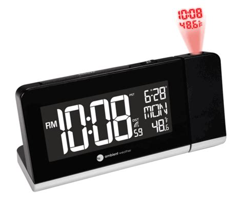 ambient weather rc 8465 projection atomic alarm clock with