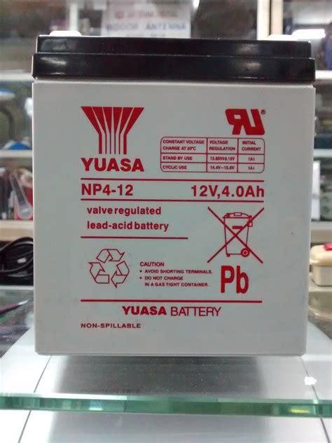 Imf5z3sbs Mf Battery Kering jual aki baterai kering mf battery yuasa 12v 12 volt 4ah 4 ere suara