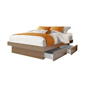 Platform Bed Drawers Size Platform Bed With 4 Drawers Contempo Space