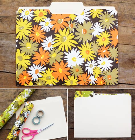 How To Make A Handmade Folder - single file a retro inspired file folder diy from a