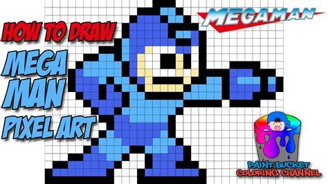 construct 2 megaman tutorial how to draw mega man pixel art drawing capcom s mega man