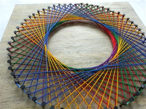 diy rainbow spirograph string