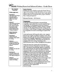 Thank You Letter Lesson Plan formal thank you letter lesson plans worksheets