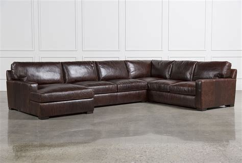 Leather Sectional With Chaise And Sleeper Stunning 3 Leather Sectional Sofa With Chaise 91 For