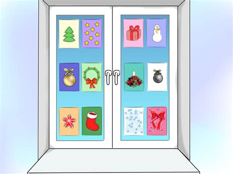 how to decorate a window with christmas cards 12 steps