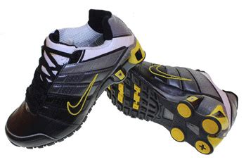 F01009 Sepatu Kets N Hitam nike shox nz 2 sepatu olahraga nike adidas reebok