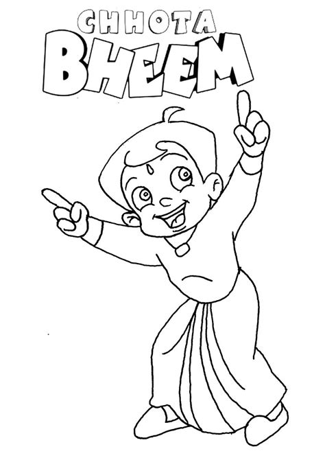 chota bheem coloring pages selfcoloringpages com