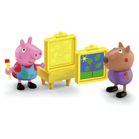 peppa pig painting together