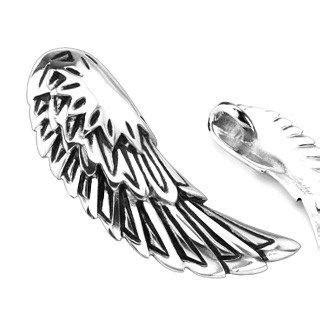 Fly And Be Free With Silver Service Wings Necklace From Direct by Freedom To Fly Silver Wings Stainless Steel Classic