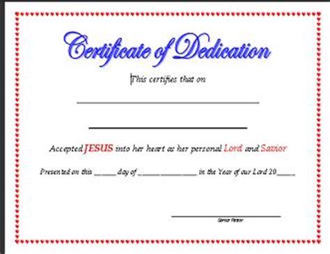 church certificates templates