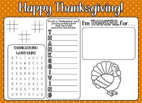 12 free printable thanksgiving kids activity placemats