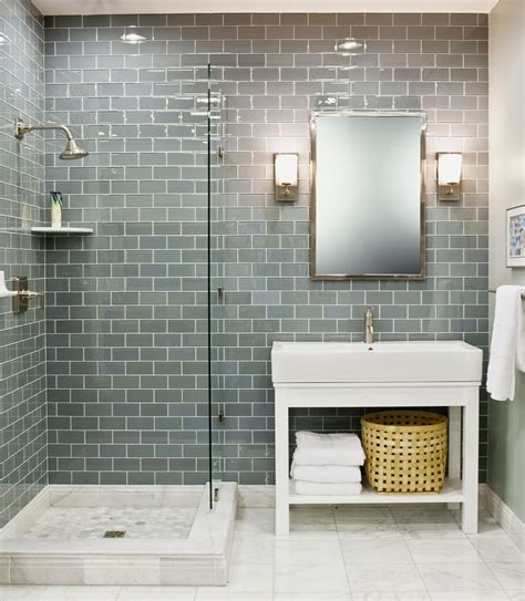 Tiled Shower Ideas For Bathrooms Best 25 Glass Tile Bathroom Ideas On Tile
