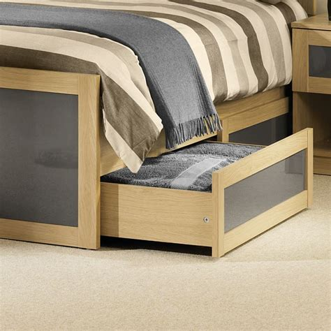 grey wood bed frame happy beds strada classic bed frame light oak and grey