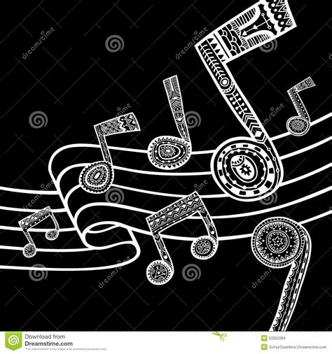 imagenes musicales en blanco y negro music black and white background stock vector image