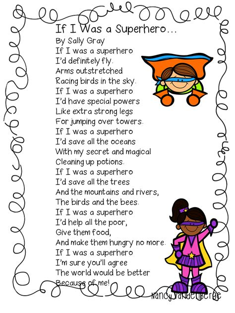 english themes for preschool first grade wow superhero poem classroom tchr stuff