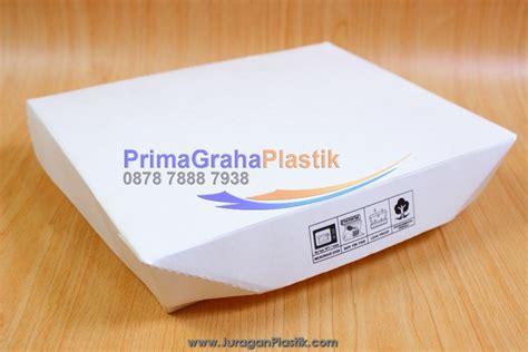 Lunch Box Kertas Sekat 4 Xl 200 Pcs Gojek Only box bento paper 4 sekat food grade xl stock ready home