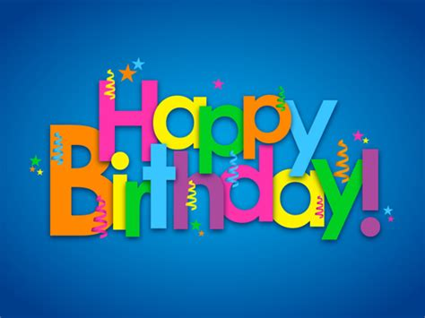 happy birthday wishes text design colored happy birthday text design vector vector