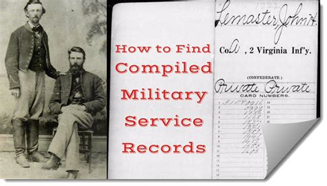 How To Find Your Record How To Find Compiled Service Records For Your Ancestors Genealogy Gems