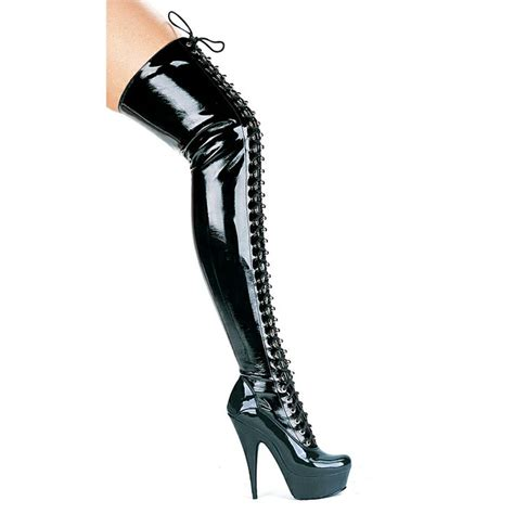 thigh high vinyl boot my shoe addiction