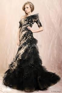 looking elegant and modest with black wedding dresses with