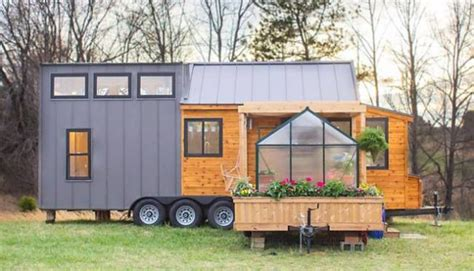 tiny house with greenhouse home design garden
