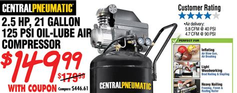 harbor freight alert price compression on all compressors save up to 54 plus new