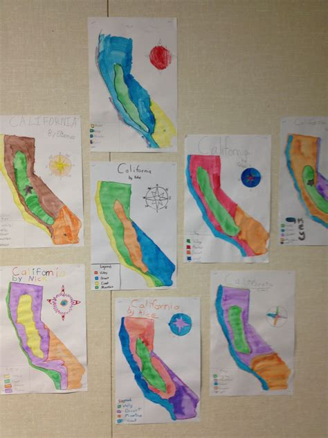 california map project 1000 images about 4th grade california relief map on