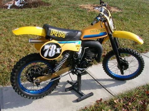 1980 Suzuki Rm80 1980 Suzuki Rm125 Floater Suzuki Rm Vintage Motocross