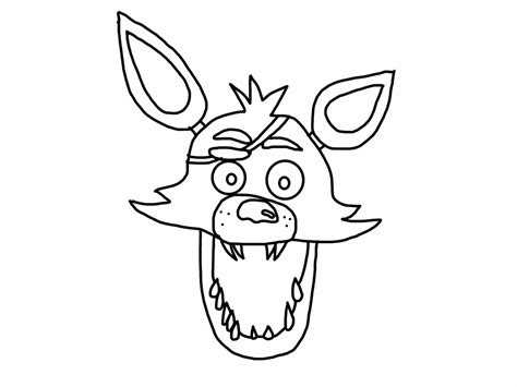 fnaf coloring pages foxy fnaf foxy sketch portrait 2 3 by xxdemithegreatxx on