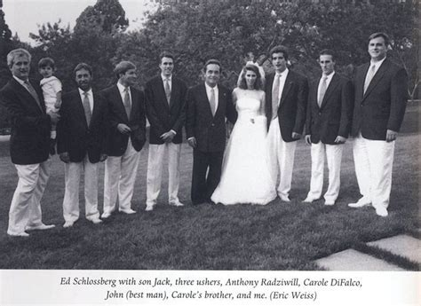 The wedding of Lee's son Anthony to Carole DeFalco