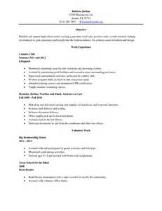 sle college resume for high school seniors exle of a college resume for a highschool senior