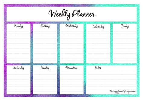 Download Your Free Weekly Planners Now 5 Designs To Choose From Weekly Agenda Template