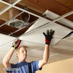 Drop Ceilings Installation drop ceiling installation tips the family handyman