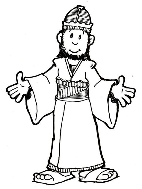 King David Outline king solomon coloring pages coloring home